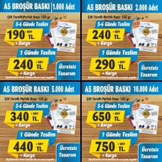A5 Broşür Baskı Fiyatları
