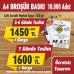 A4 Broşür Baskı Fiyatları